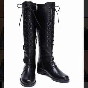 Fit Size 6 Stuart Weitzman Lace-Up Leather Boots